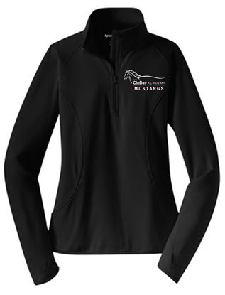 Picture of CinDay Academy Ladies 1/4 Zip Pullover - Sport Tek LST850