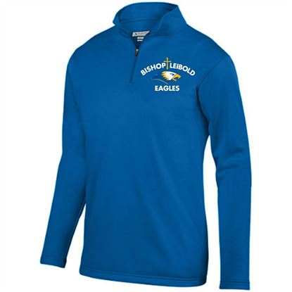 Picture of Bishop Leibold Youth Wicking 1/4 Zip Pullover by Augusta 5508 - Royal or Gold