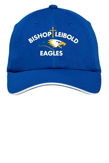 Picture of Bishop Leibold  Wicking Mesh Ball Cap by Port Authority C838 - Royal, Gold or White