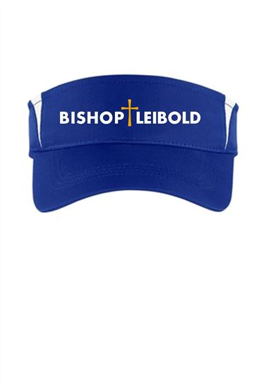 Picture of Bishop Leibold  Wicking Visor by Sport Tek STC13, STC27 and Augusta 6275 - Royal, Gold or White