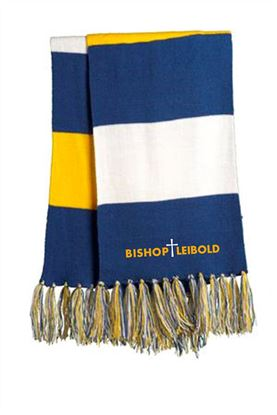 Picture of Bishop Leibold Scarf by Sport-Tek STA02 - Royal & Gold