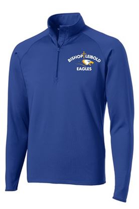 Picture of Bishop Leibold Unisex Wicking 1/4 Zip Pullover by Sport Tek ST850 - Royal,  Heather Blue,  White or Heather Charcoal Grey