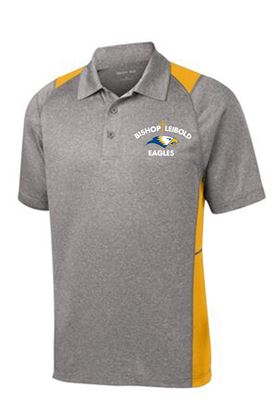 Picture of Bishop Leibold Unisex Performance Polo by Sport Tek ST665 - Grey/Gold or Grey/Royal Blue