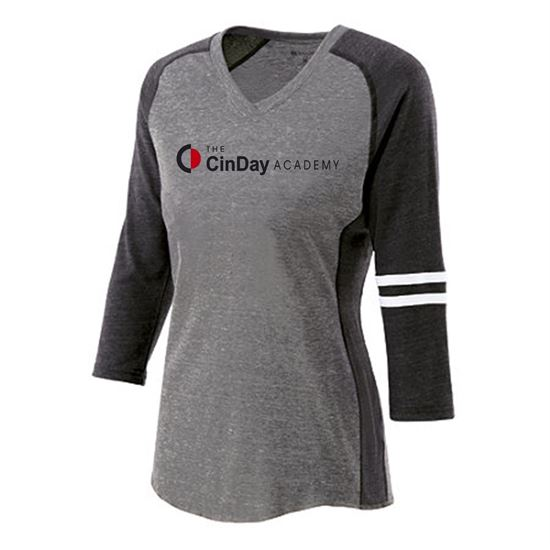 Picture of CinDay Academy Ladies Fielder Tee by Holloway 229345