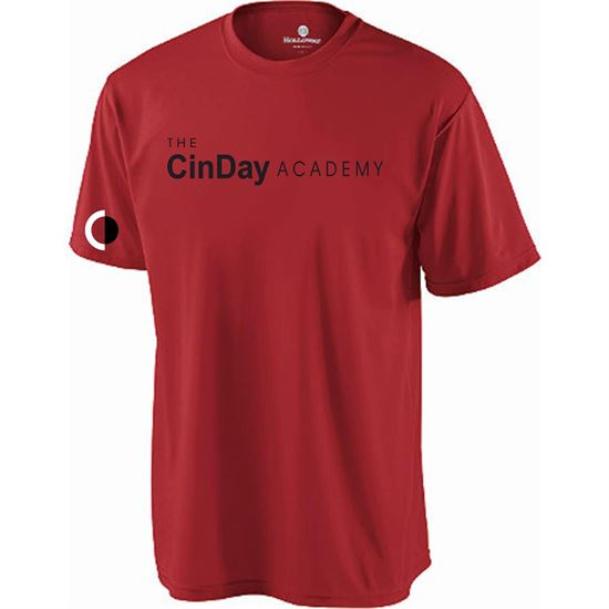 Picture of CinDay Academy Youth Attain Tee by Holloway 4791 - Red