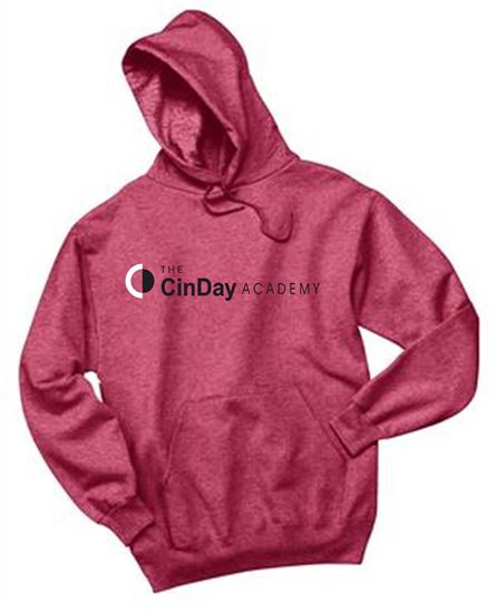 Picture of CinDay Academy Unisex Cotton Heathered Hoodies by Jerzees 996M - Red Heather