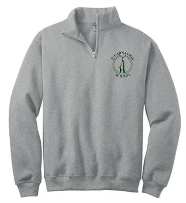 Picture of Incarnation 7th/8th Grade Fleece 1/4 Zip Pullover 995M/995Y
