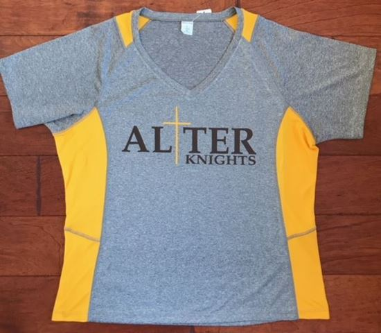 Picture of Alter Knights Sport Tek Dry-Fit Ladies V-neck Shirt