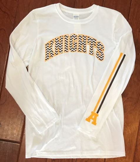 Picture of Alter Knights Long Sleeve Gildan Softstyle Shirt with Sleeve Stripes and an A
