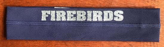 Picture of Kettering Firebirds All Sport Headband, Navy with Silver Glitter