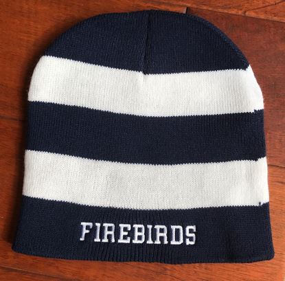 """Picture of Kettering Firebirds Sportsman Rugby Striped 8"""" Knit Beanie ONLY 2 LEFT!!!"""