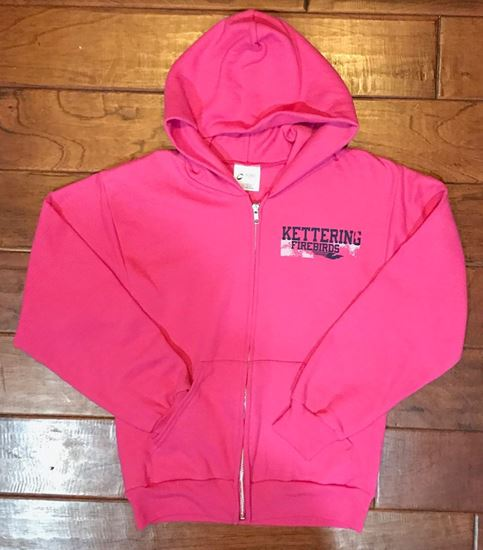 Picture of Kettering Firebirds Port and Company Youth Full Zip Hooded Sweatshirt