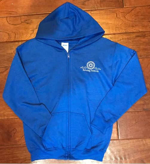 Picture of Kettering Firebirds Youth Gildan Heavy Blend Full Zip Hooded Sweatshirt