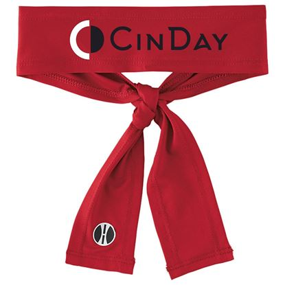 Picture of CinDay Academy Tie Headband by Holloway 223846 - Red, Black or White