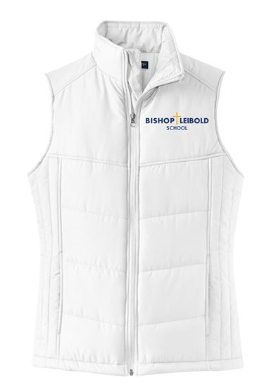 Picture of Bishop Leibold Ladies Puffy Vest by Port Authority L709 - White