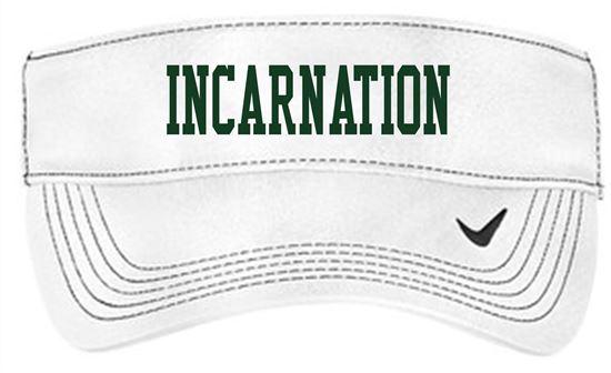 Picture of Incarnation Nike Dri-FIT Swoosh Visor 429466 - White