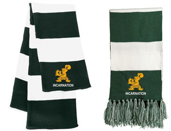 Picture of Incarnation Knit Scarves By Sport-Tek STA02 and Sportsman SP02 -Forest/White