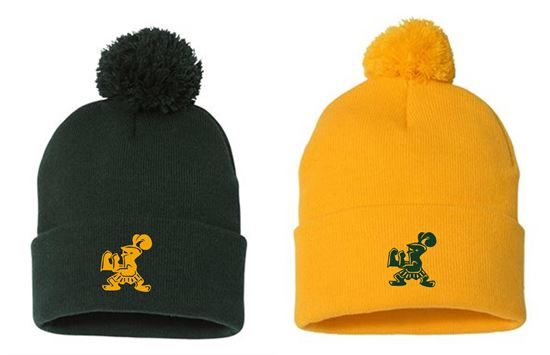 Picture of Incarnation Pom-Pom Knit Beanie by Sportsman SP15 - Gold or Green