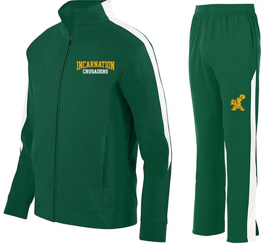 Picture of Incarnation All Sport Warm Up by Augusta 4396/7761  4395/7760 - Dark Green/White