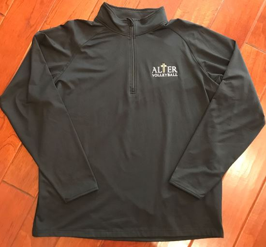 Picture of Alter Volleyball Black Sport-Tek® Sport-Wick® Stretch 1/2-Zip Pullover