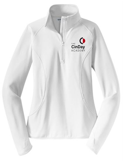 Picture of CinDay Academy Ladies Wicking 1/4 Zip Pullover by Sport Tek LST850