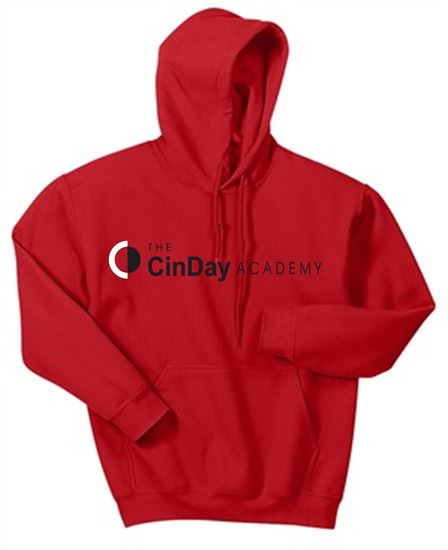 Picture of CinDay Academy Youth Cotton Solid Hoodie by Jerzees  996Y/18500B - Red