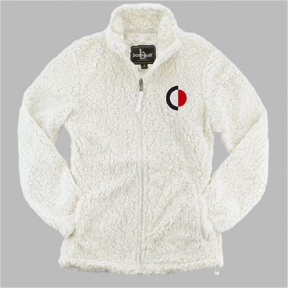 Picture of CinDay Academy Ladies Full Zip Sherpa by Boxercraft Q10 - Natural, Grey or Black