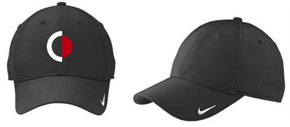 Picture of CinDay Academy Swoosh Legacy 91 Cap by Nike Golf 779797 - Black/Black, Dark Grey/White or White/White