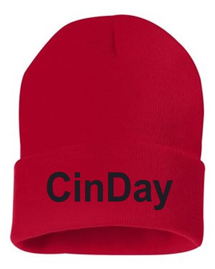 Picture of CinDay Academy Beanie by Sportsman SP12 - Red or Black