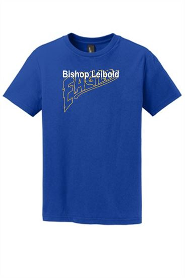 Picture of Bishop Leibold Eagles Text Youth Short or Long Sleeve T-shirt by Jerzees 29B/29BL