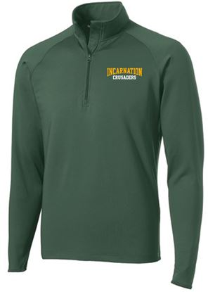 Picture of Incarnation Unisex Wicking 1/4 Zip Pullover by Sport Tek ST850 - Hunter or White