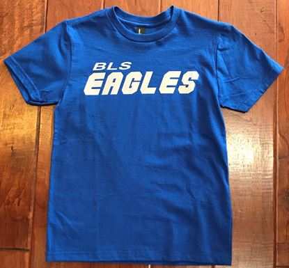Picture of BLS Eagles District Youth Concert Tee Royal Blue with Silver Glaze Logo