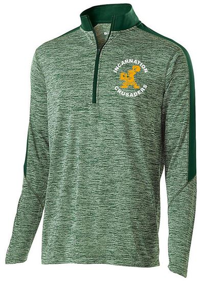 Picture of Incarnation Unisex Electrify 1/2 Zip Pullover by Holloway 222542 - Green/Dark Green or Grey/White