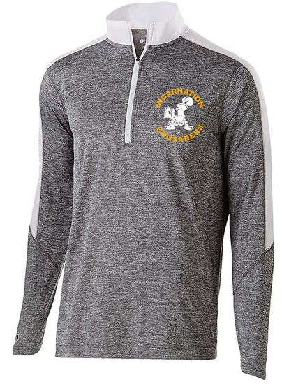 Picture of Incarnation Youth Electrify 1/2 Zip Pullover by Holloway 222642 - Grey/White ONLY 1 LEFT!! Size YS