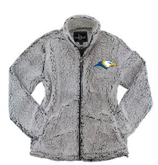 Picture of Bishop Leibold Ladies Full Zip Sherpa by Boxercraft Q12 - Frosty Grey