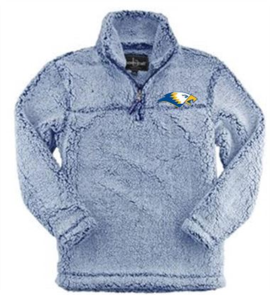 Picture of Bishop Leibold Youth 1/4 Zip Sherpa by Boxercraft YQ10 - Frosty Navy