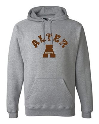 "Picture of Alter ""A"" Unisex Premium Hooded Sweatshirt by J. America 8824 - Oxford"