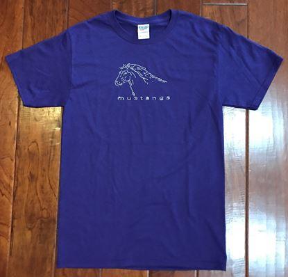 Picture of CinDay Academy Rhinestone Horse Logo, Purple Jerzees Tee