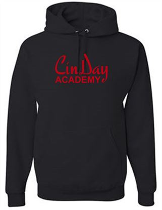Picture of CinDay Academy Youth Foil Hoodie by Jerzees  996Y - Black