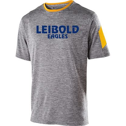 Picture of Bishop Leibold Gray/Gold Short Sleeve Electron Tee:  Faith-Pride-Spirit by Holloway
