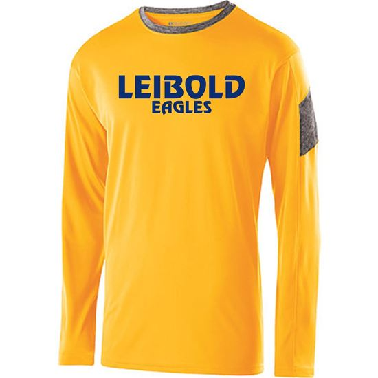 Picture of Bishop Leibold Gold/Gray Long Sleeve Electron Tee:  Faith-Pride-Spirit by Holloway