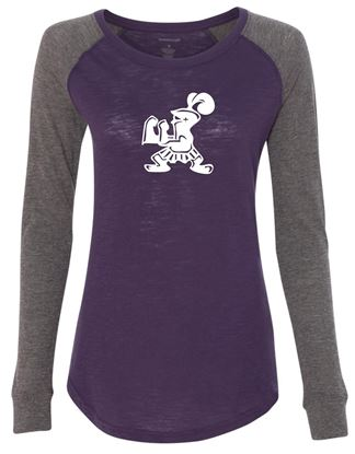 Picture of Incarnation Crusader Ladies  Preppy Patch Tee by Boxercraft T66 - Mint or Purple