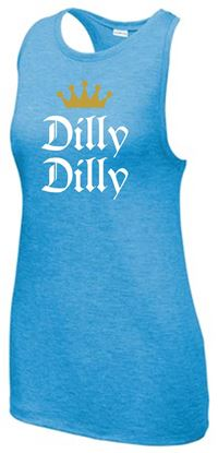 Picture of Dilly Dilly Ladies PosiCharge Tri-Blend Wicking Tank by Sport Tek LST402