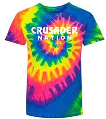 Picture of Incarnation (Crusader Nation) Unisex Fluorescent Rainbow Swirl Short Sleeve T-Shirt 200MS