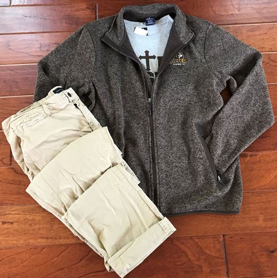 Picture of Alter Knights Charles River Apparel Full Zip Men's Heathered Fleece Jacket