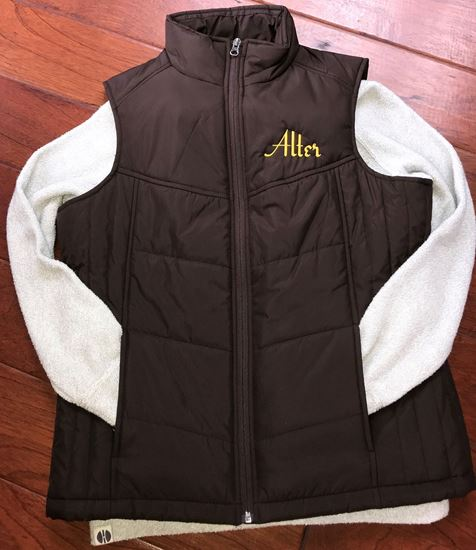 Picture of Alter Knights Port Authority Ladies Brown Puffy Vest