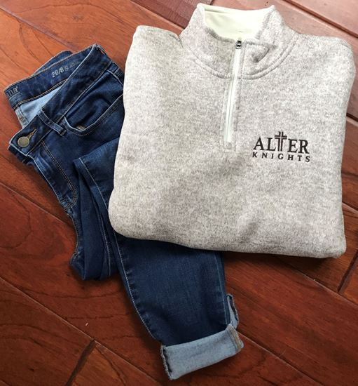 Picture of Alter Knights Ladies Soft Heathered Fleece 1/4 Zip Pullover by Charles River 5312