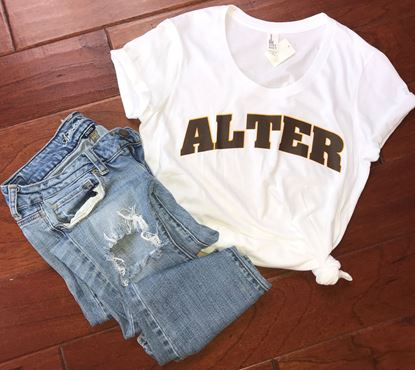 Picture of Alter 2 Color Arch Tee - Very Important Tee by Disctrict Ladies Fitted DT6001