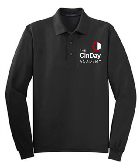 Picture of CinDay Academy Youth Long Sleeve Uniform Polo by Port Authority Y500LS