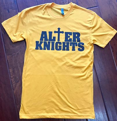 Picture of Alter Knights Youth Cotton Short Sleeve Crew by Next Level 3310 - Gold